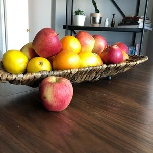 Vanity Tray Hand Woven Fruits Basket Accent Table